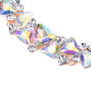 Fashion Satin Colorful Crystal Choker Necklace Jewelry pictures & photos