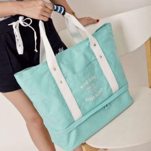 a Creative Canvas Travel Bag Bag Bag Large Capacity Single Female Mummy Bag Quality Workmanship pictures & photos