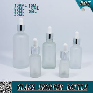 Cosmetic Frosted Glass Essential Oil Dropper Bottles pictures & photos
