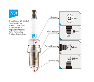 Bd 7701 Iridium Spark Plug for Hyundai Mattrix 1.6L G4ED Igniotion System Ngk Bkr6egp pictures & photos