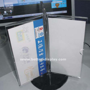 Acrylic Plastic Table Drink Menu Holder (BTR-H6053) pictures & photos