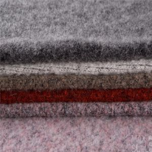 Mohair /Cotton / Wool/Polyester/ Nylon Mixed Wool Fabric in Lignt Black pictures & photos