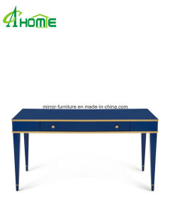 2016 News Mediterranean Style Home Office Decorative Blue Mirrored Console Tables / Desk pictures & photos