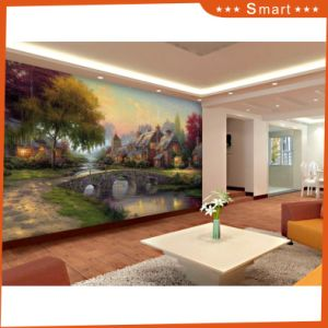 Custom Printed Type Beautiful Village Path with River Scenery Canvas Print Model No.: Hx-4-023 pictures & photos