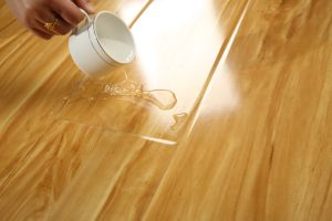 Mirror Pressed U-Groove Laminate Floor pictures & photos