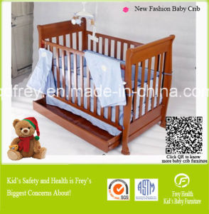 New Design Solid Pine Wood Baby Cribs pictures & photos