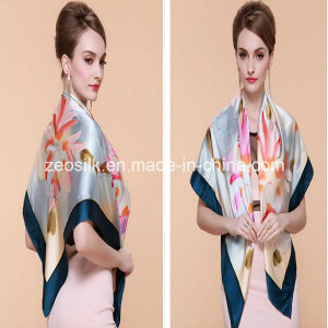 Quality Newest Shawl Style Digital Printing Silk Scarf pictures & photos