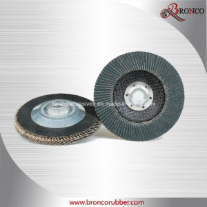 "5"" Aluminum Threaded Flap Disc T29 Conical for Polishing and Grinding"