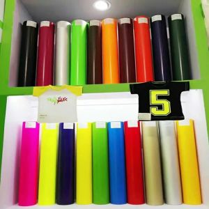 High Quality Neon Orange Cutting Heat Trtansfer Vinyl for Clothing pictures & photos
