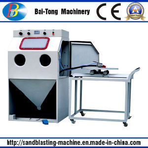 Manual Workcar and Turnable Small Mould Sandblasting Machine pictures & photos