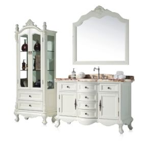 Antique Design Oak Wood Bathroom Cabinet Sw-63019 pictures & photos