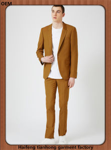 Dark Camel Made to Measure Leisure Suit for Men