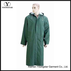 Promotional Polyester/PVC Different Color Long Raincoat with Hood pictures & photos