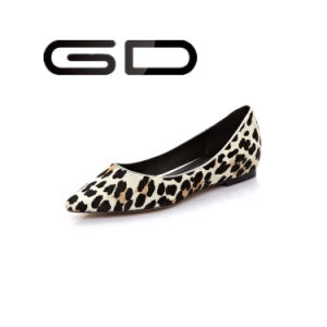 Fashion Casual Design High Quality Leather Ladies Wholesale China Flat Shoes pictures & photos