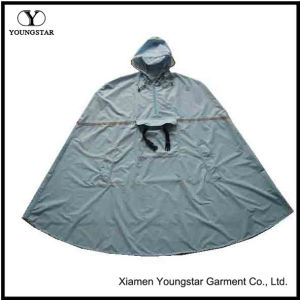 Backpacking Nylon Polyester Waterproof Mens Hooded Rain Poncho for Adults pictures & photos