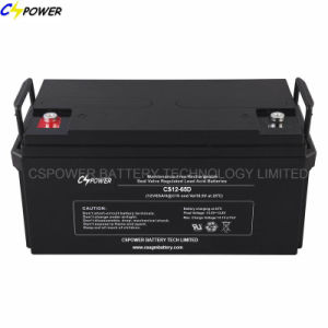 12V 65ah Maintenance Free AGM Sealed Lead Acid Battery CS12-65D pictures & photos