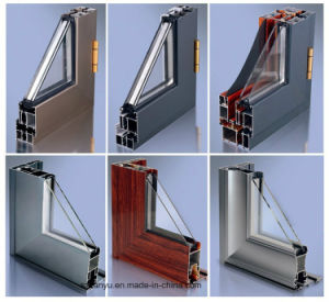 Reception Sliding Window with Double Tempered Glass Aluminum Profile pictures & photos