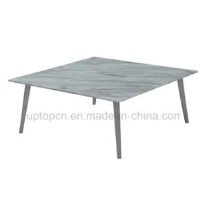 Modern Square Marble Cafe Restaurant Table with Metal Leg (SP-GT440) pictures & photos