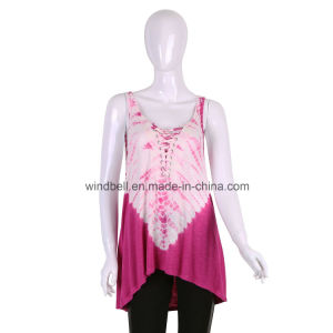 New Style Top for Women with Garment Tie Dye pictures & photos