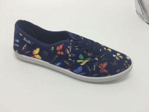Hot Sale Flower Design Canvas Shoes pictures & photos