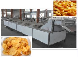 Ss304 Natural Fried Potato Chips Processing Machine pictures & photos