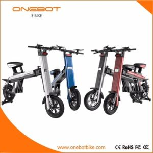 Red Color Double Panasonic Battery Foldable Ebike with Aluminum Alloy pictures & photos