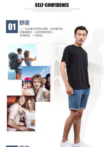 Top Quality Pure Cotton T-Shirts for Sublimation Press pictures & photos