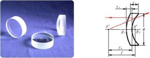 Fused Silica Optical Glass Convex-Concave Positive Meniscus Lens pictures & photos