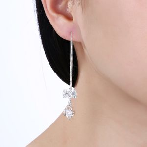 Beautiful Silver Plated Zircon Women Earrings pictures & photos