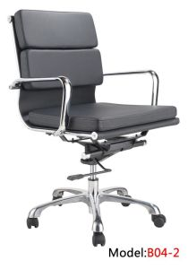 Office Leather Swivel Hotel MID Back Metal Manager Chair (B04-2) pictures & photos