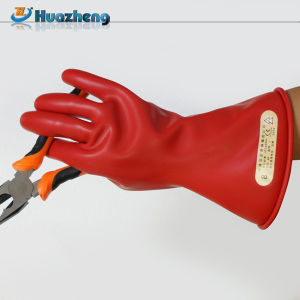 China Factory Class 0 1000V Electrician Latex Rubber Insulating Gloves pictures & photos