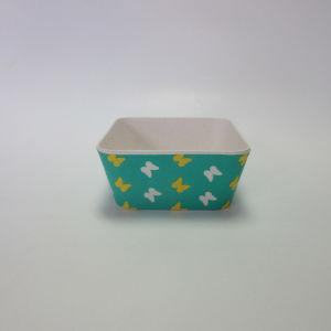 Bamboo Fiber Small Square Bowl Salad Bowl Soup Bowl Paisley Design Tableware pictures & photos