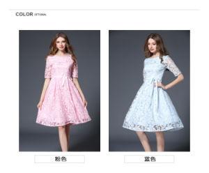 Wholesale Women Advanced Jacquard Knee Length Dress (A131)