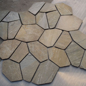Rusty Slate Flooring Tiles with Mesh (SSS-88) pictures & photos