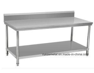 Stainless Steel Working Table, Doube Layers Working Platform pictures & photos