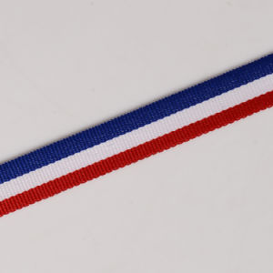 "7/8"" Red White Blue Striped Grosgrain Ribbon pictures & photos"