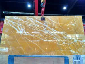 Natural Jade Orange Marble Stone Setting Wall Stone Ground Stone pictures & photos