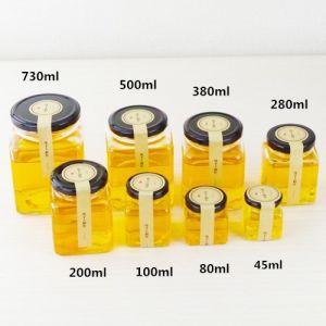 45ml-730ml Rectangle Honey Jars, Jam Jars, Bird′s Nest Jars High-Grade Lead-Free Glass Jar