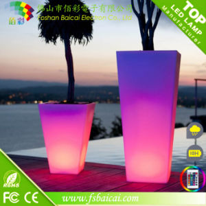LED Garden Flower Pot with Plastic Material pictures & photos