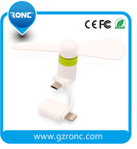 Customized Logo USB Mini Fan for iPhone pictures & photos