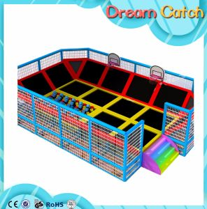 Large Indoor Trampoline with Basketball, Ball Pool, Foam Pit pictures & photos