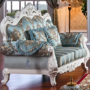 Fabric Sofa with Wooden Sofa Frame and Table (D956) pictures & photos