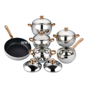 11PCS Stainless Steel Cookware Set - Apple Shape pictures & photos
