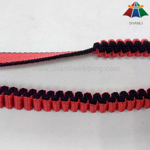 2cm Polypropylene Red-Black Striped Elastic Webbing for Pet Leashes pictures & photos