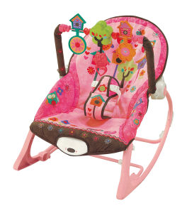 Adjustable Cradle & Soothe Soft Baby Bouncer/ Rocker with Music and Vibration Certification Baby Trace Brand 63532 pictures & photos