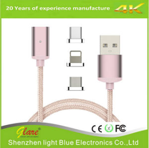 Newest 2 in 1 Nylon Braided Magnetic USB Cable pictures & photos