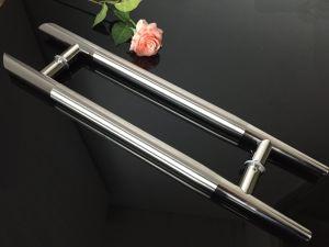 Sain+Polish Stainless Steel Pipe Door Hinge Glass Door H Handle pictures & photos
