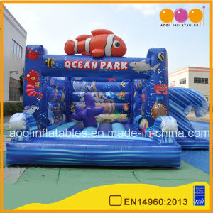 Inflatable Toy Ocean Park Combo Bounce Kids Playhouse Trampoline with Printing (AQ01524) pictures & photos