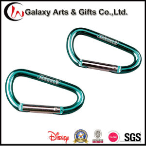 Customized Green Promotion Climbing Aluminum Carabiner with Laser Logo