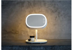 Jnf-01 China Supplier Desktop Illuminated Cosmetics Makeup Vanity Mirror with LED Light pictures & photos